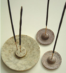 Soapstone incense holders   