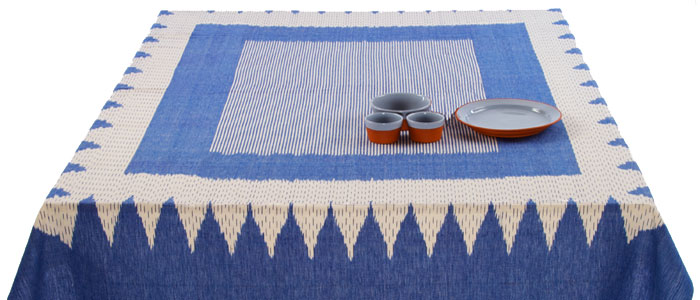 Tablecloths Throws Ikat Fabric Quattro Onevillage Com Uk