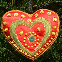 Needlework heart   
