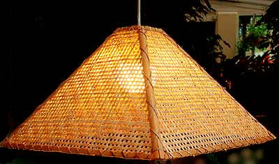 Bamboo fabric and paper lampshades and lighting uk 04284 pyramid lampshade aloadofball Choice Image