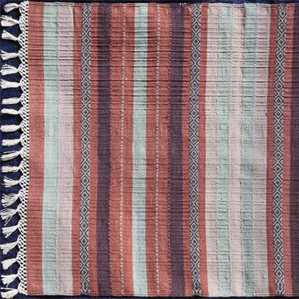 Striped Cotton Rug Dharidar Uk