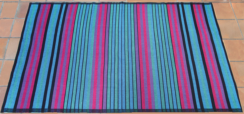cotton rug in vibrant colours red or blue green uk sinhala
