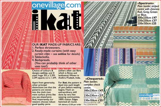 Made-up ikat fabrics   