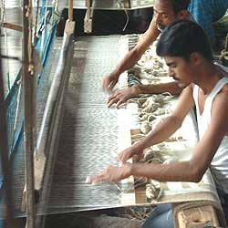 The weavers' co-op in Warangal   